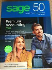 SAGE 50 Premium Accounting 1 User 2020 ***Brand New Sealed***