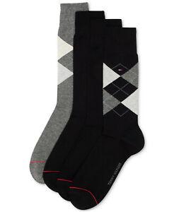 Tommy Hilfiger Mens 4 Pack Argyle Dress Socks $24 - NWT