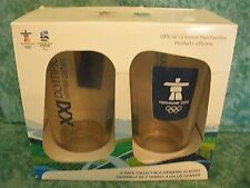 PAIR OF XXI OLYMPIC WINTER GAMES DRINKING GLASSES VANCOUVER~2010~USA~NIOP