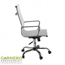 Sedia ufficio Task ecopelle bianca girevole regolabile ufficio studio