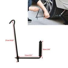 Folding Car Wheel Scissor Jack Lug Wrench Crank Lever Handle Lift Rod Black Iron