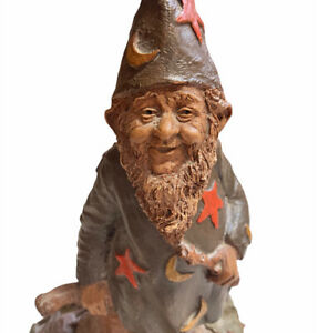 Vintage 1983 Tom Clark Gnome THE WIZ Wizard Sculpture Hand Signed