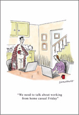 Lockdown Working From Home Casual Friday - Funny Blank New Normal Greeting Card