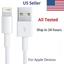 Apple Lightning to USB Charge Cable for iphones 5,6,ipads, ipod, etc