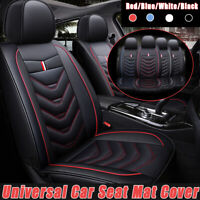 Universal Car Front Seat Mat Covers PU Leather Breathable Cushion Pad  W
