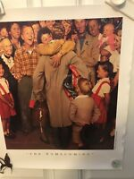 Norman Rockwell Christmas Homecoming Saturday Evening Post Curtis Publishing Co
