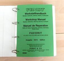 Fendt Favorit 4 S 10 S 11 S 12 S 610 S 611 S 612 S 614 S Werkstatthandbuch
