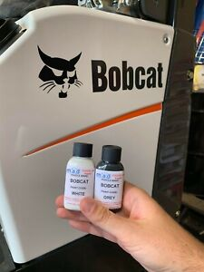 WHITE & GREY TOUCH UP PAINT FOR BOBCAT E10 E14 E17 E19 E20 MICRO MINI DIGGER