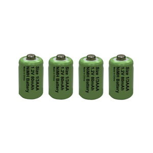 4 x 1/3AAA (One Third AAA 11mm) Solar Light Batteries Rechargeable 1.2V NiMH