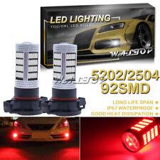 92SMD 5202 Red LED Fog Light Bulb for Chevrolet Silverado 2500 3500 HD 2007-2019