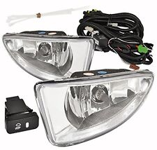 2004-2005 Honda Civic Dx Lx Ex 2/4 Door Front Driving Clear Lens Fog Lights Lamp