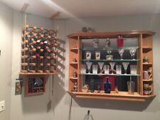 Wood Wine Bottle Rack & Shelf - Wall Mounted