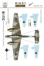 Hungarian Aero Decals 1/48 MESSERSCHMITT Bf-110D-3 IN AFRICA