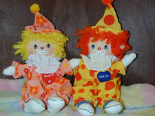 2 DOLLS PLUSH:Vintage 1978 Knickerbocker Clowns Tag Along&Half Pint Adorable NEW