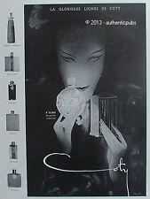 PUBLICITE COTY PARFUM A SUMA EMERAUDE PARIS AIMANT ORIGAN DE 1931 FRENCH AD RARE