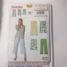 Burda 8242 Sizes 18-34 Women's Pants