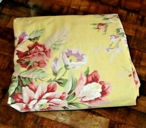 Ralph Lauren Brooke Sophie Queen Fitted Sheet Yellow Floral
