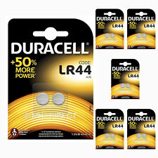 12 x Duracell LR44 AG13 A76 L1154 GPA76 SR44 Alkaline Batteries Use By Date 2022
