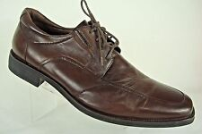 Johnston and Murphy Mens Brown Leather Lace Up Flex Sole Oxfords 11.5 M