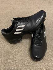 Adidas Adizero Black Golf Shoes Size UK 9 With Spike Key