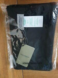 JOHN SMEDLEY Black Merino Wool Unisex Scarf BNWT RRP £90