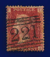 1869 SG43 1d Red Plate 129 G1 EF Leith Good Used Cat £10 conr