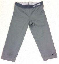NIKE PRO  Dri-fit   Crop Pants Gray Yoga Training Pilates Gym Size Medium