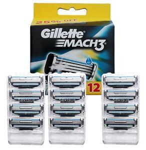 Gillette Mach3 Klingen 12 Stück im Blister / 3x 4er Set ohne OVP auch für Turbo