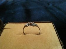 Ring Granat in Sterling-Silber 925/000 oxydiert