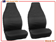 2 Plain Black THROW OVER/Slip On Style SEAT COVERS,  FITS MOST CAR Bucket seats