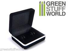 Caja rigida para Gemelos - forrada con Terciopelo Negro - Caja Regalo