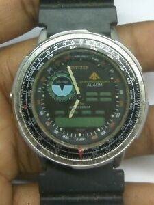USED CITIZEN 8945 PROMASTER WINGMAN WATCH FOR PARTS & REPAIRS & WATCHMAKERS