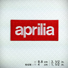 new Aprilia EMBROIDERED PATCH IRON ON or SEW. Racing Sports Motorcycles Big bike