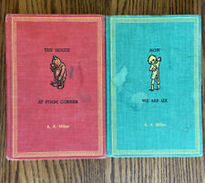 Vintage lot of 2) 1961 NOW WE ARE SIX & The House At Pooh Corner by A. A. Milne