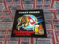 VTG 89 BUDWEISER BEER U.S.C.G. COAST GUARD GRIZZLY BEAR IN MOTION BAR LIGHT SIGN