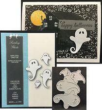 Memory Box dies SWIRLING GHOSTS metal cutting die 99192 Halloween,Holidays