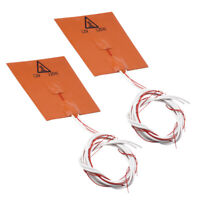 2Pcs 120*120mm Flexible Silicone Heater Mat 3D Printer Heating Bed 12V 120W