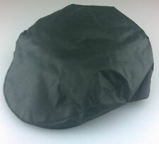 Waterproof Waxed Flat Cap Green M.L.XL 100% Cotton, checked lined Made In UK
