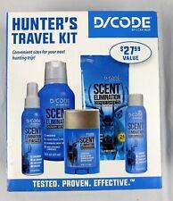 Hunters Travel Kit D/Code Code Blue Tested Proven Scent Elimination Deer Hunting