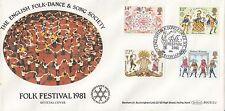 (94064) CLEARANCE GB Benham FDC BOCS(2)1 Folklore English Folk Song Dance 1981