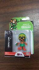 Jakks World of Nintendo 2.5 Deku Link Figure NEW FREE SHIP US
