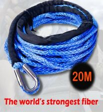 Dyneema SK75 Synthetic Winch Rope, Cable 10mm x 20m for 4WD, 4x4, Boat Offroad