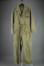 Vtg WWII Men's HBT Cotton 13 Star Button Mechanic Coveralls sz 36R  WW2 #3110
