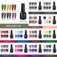 RBAN NAIL 7Pcs Set/Kit Soak Off UV Gel Nail Art Polish UV LED Varnish Manicure