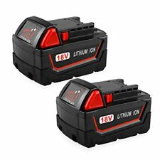Powilling 2Pack 18V 5 0Ah Replacement M18 Battery for Milwaukee Red Lithium X...