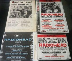 RADIOHEAD - UK LIVE TOUR DATES 1992 2000 1995 original advert / fridge magnet