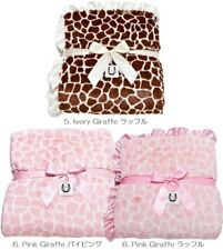 Max Daniel Adult Throw Blanket - Animal Print Pink Giraffe - Piped Edge