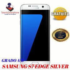 SMARTPHONE SAMSUNG GALAXY S7 EDGE 32GB SILVER USATO RICONDIZONATO GRADO A