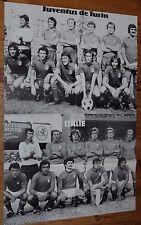POSTER FOOTBALL 1977 ITALIE ITALIA TORINO GRAZIANI JUVENTUS BETTEGA CAUSIO ZOFF