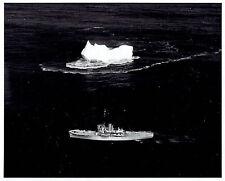 1952 Original Photo by U.S COAST GUARD Boeing B-17 plane over USCGC Cutter Tampa